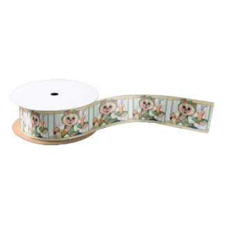 ROLLER CAT CARTOON Satin Ribbon