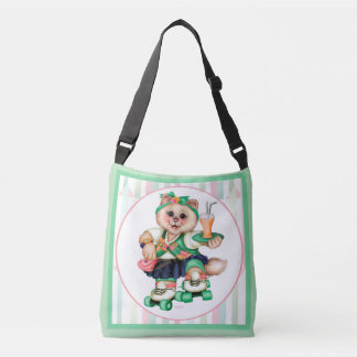 ROLLER CAT CUTE All-Over-Print Cross Body Medium Crossbody Bag