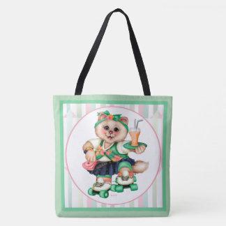 ROLLER CAT CUTE All-Over-Print Tote Bag