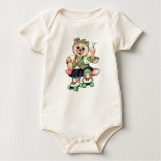 ROLLER CAT CUTE Baby American Apparel Organic Body Baby Bodysuit