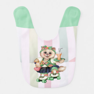 ROLLER CAT CUTE Baby Bib
