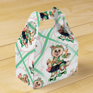 ROLLER CAT CUTE Gable Favor Box