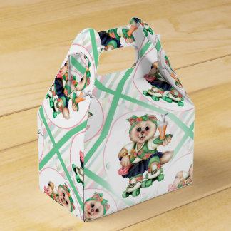 ROLLER CAT CUTE Gable Favour Box Party Favor Boxes