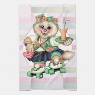 ROLLER CAT CUTE Linen with crockery Hand Towels