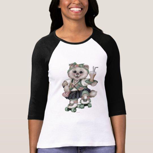 ROLLER CAT CUTE Women's Bella+Canvas 2 T-Shirt