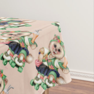 """ROLLER CAT Tablecloth COLOR LIPS 60""""x104"""""""