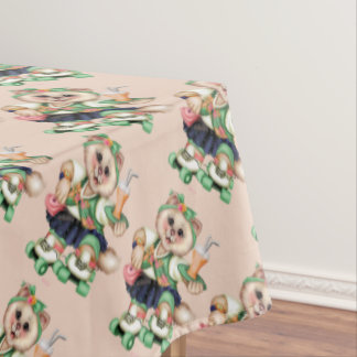 """ROLLER CAT Tablecloth COLOR LIPS 60""""x84"""""""