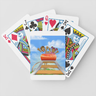 Roller Coaster Cartoon Bicycle Playing Cards