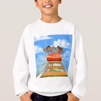 Roller Coaster Cartoon Sweatshirt
