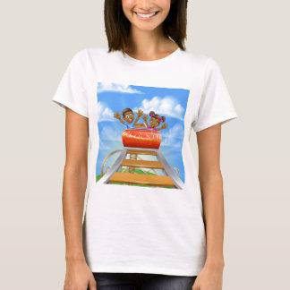 Roller Coaster Cartoon T-Shirt