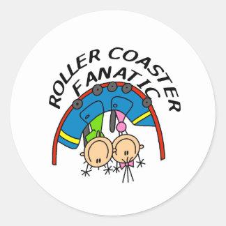 Roller Coaster Fanatic Classic Round Sticker