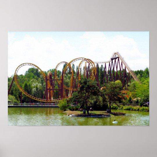 Roller coaster in France Poster