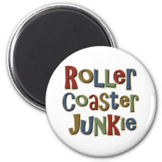 Roller Coaster Junkie 2 Inch Round Magnet
