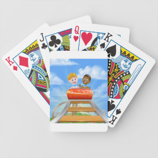 Roller Coaster Kids Bicycle Playing Cards