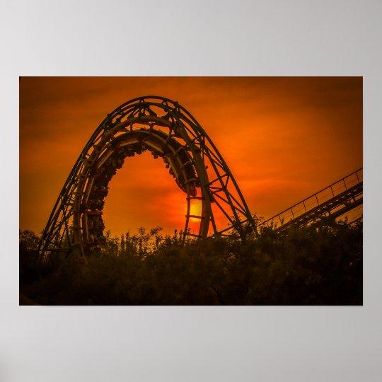 roller coaster poster