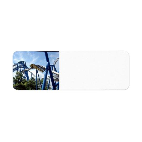 roller coaster return address label