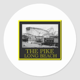 Roller Coaster The Pike Classic Round Sticker