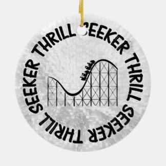 ROLLER COASTER THRILL SEEKER CERAMIC ORNAMENT