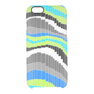 Roller Coaster Vintage Psychedelic Striped -Cool Clear iPhone 6/6S Case