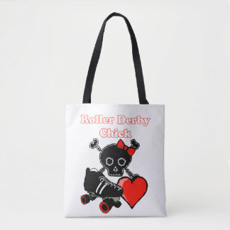 Roller Derby Chick (Red) Tote Bag