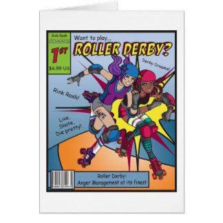 Roller Derby Comic card
