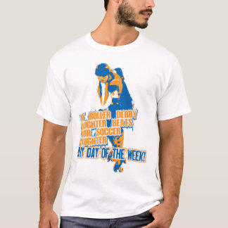 Roller Derby Daughter blue T-Shirt