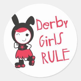 Roller Derby - Derby Girls Rule Round Sticker