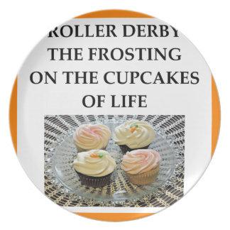 roller derby dinner plates