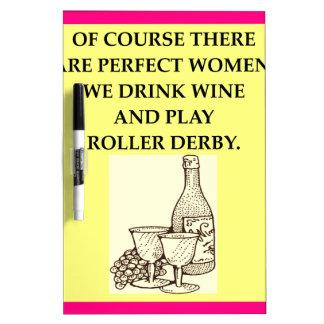 roller derby dry erase board