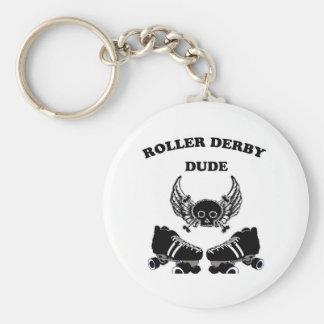Roller Derby Dude Keychain