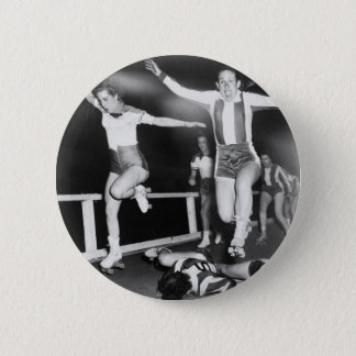Roller Derby Girl 2 Inch Round Button