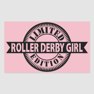Roller Derby Girl Limited Edition, Skating Design Sticker