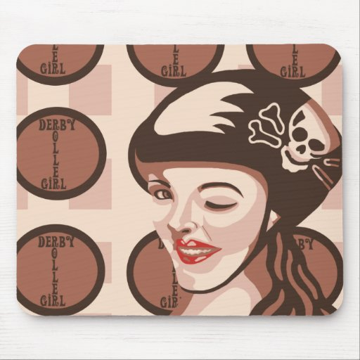 roller derby girl mouse pad