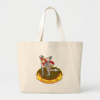 roller derby girl up bag