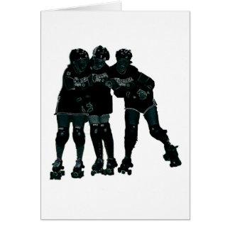 Roller Derby Girls Card
