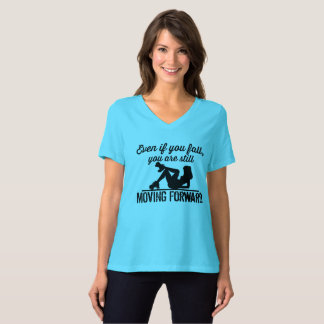 Roller Derby, If you Fall you are moving forward T-Shirt