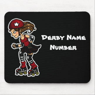Roller Derby Jammer Customisable Mousemat