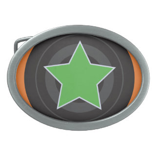 Roller Derby Jammer Star Oval Belt Buckles