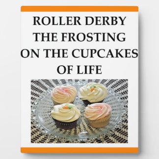 roller derby plaque