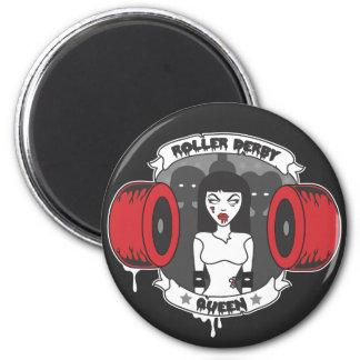 Roller Derby Queen *Updated* 2 Inch Round Magnet