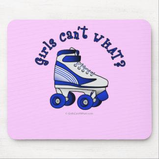 Roller Derby Skate - Blue Mouse Pads