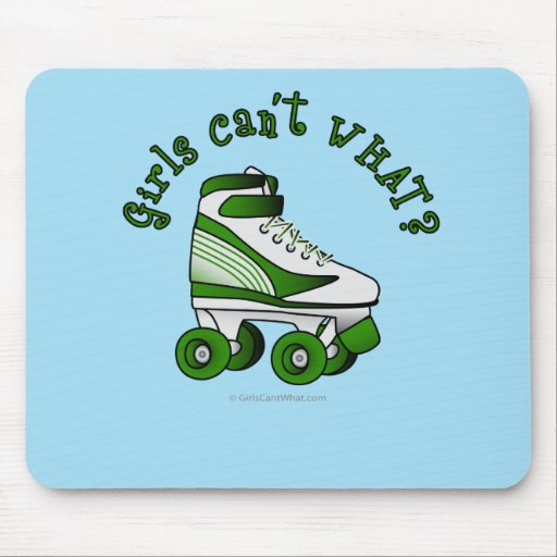 Roller Derby Skate - Green Mouse Pad