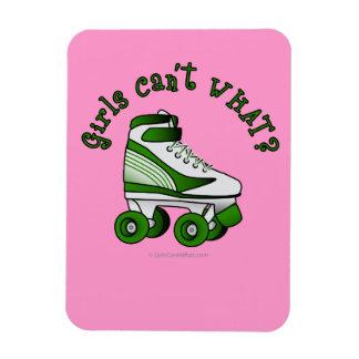Roller Derby Skate - Green Rectangular Photo Magnet