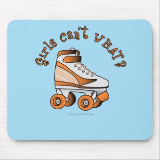 Roller Derby Skate - Orange Mouse Pad
