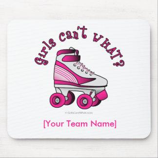 Roller Derby Skate - Pink Mousepad