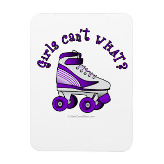 Roller Derby Skate - Purple Rectangular Photo Magnet