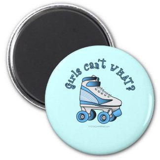 Roller Derby Skate - Sky Blue 2 Inch Round Magnet