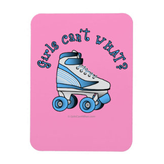 Roller Derby Skate - Sky Blue Rectangular Photo Magnet