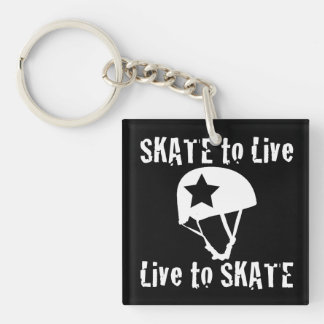 Roller Derby, Skate to Live Live to Skate, Jammer Single-Sided Square Acrylic Keychain