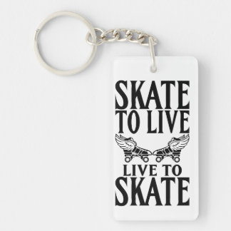 Roller Derby, Skate to Live Live to Skate Keychain